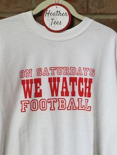A personal favorite from my Etsy shop https://www.etsy.com/listing/460794906/on-saturdays-we-watch-football-white