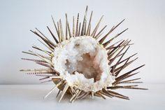 Geode Sea Urchin by LittleWorldDesign on Etsy, $150.00