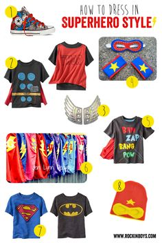 Superhero Clothing Ideas