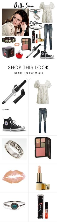 """Bella Swan"" by laceyjenner ❤ liked on Polyvore featuring B. Ella, Revlon, Wet Seal, Converse, PRPS, Luna Twilight, Sunday Riley, Fantasy Jewelry Box, Cullen and DuWop"
