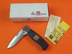 AL MAR Seki Japan Japanese Folding Pocket Knife w/ Box   eBay
