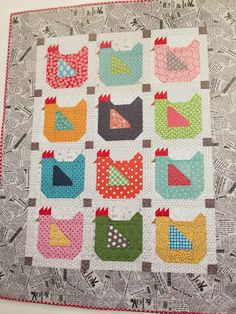 *Annies Ruby Slipperz: Farm Girl Vintage Book and Sew Along =D Cute Quilts, Small Quilts, Mini Quilts, Vintage Farm, Vintage Books, Diy Quilt, Vogel Quilt, Barn Quilt Patterns, Pattern Blocks