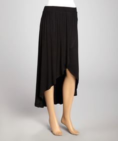 Another great find on #zulily! Black Asymmetrical Skirt #zulilyfinds