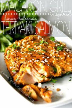 Macaroni Grill Inspired Teriyaki Salmon