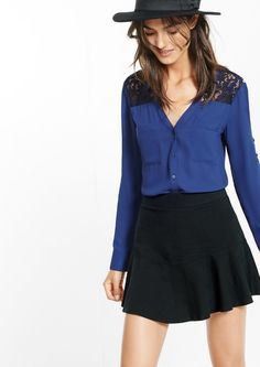 Slim Fit Lace Yoke Portofino Shirt $59.90