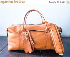 SUMMER SALES leather weekend bag leather overnight
