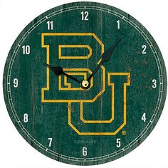 Baylor University BU Retro Wall Clock