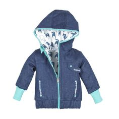 Blauwe jas met pinguins - L'asticot Happyhippo