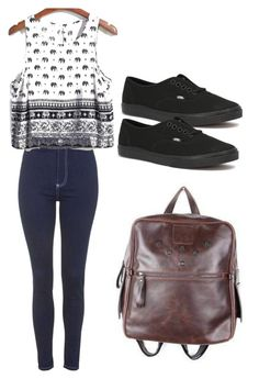 Second day of school outfit by madisenharris on Polyvore featuring polyvore, fashion, style, Topshop, Vans and Murati