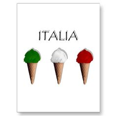 Gelati italiani (pistacchio, limone, fragola) -  Ice Cream flag of Italy