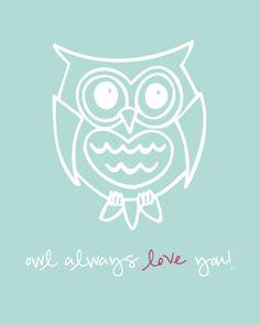FREE 8x10 Owl Printable