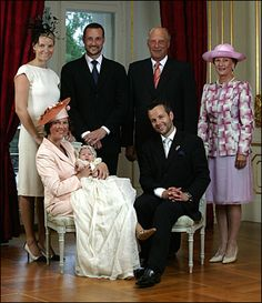 Crown Princess Mette-Marit of Norway, Princess Märtha Louise of Norway, Maud Angelica, Crown Prince Haakon of Norway, Ari Behn, Harald V of Norway, & Queen Sonja of Norway