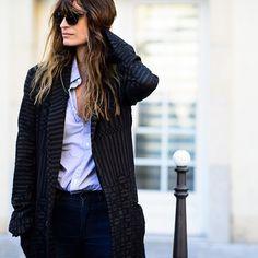 "@le21eme's photo: ""#Le21eme x #AdamKatzSinding • www.Le-21eme.com • @CarolineDeMaigret #CarolineDeMaigret #Paris #SS15 #FashionWeek #PFW #France #Street #Style #StreetStyle #Fashion #Mode #Moda #NoFilter"""