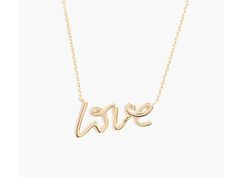 affordable mother's day gift: love necklace at bauble bar