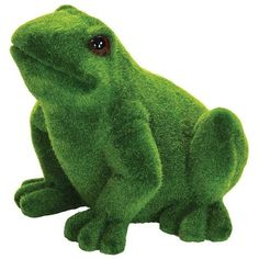 """Exhart 9"""" Faux Moss Coated Frog Outdoor Decor ($37) ❤ liked on Polyvore featuring home, outdoors, outdoor decor, outdoor frog decor and frog garden decor"""