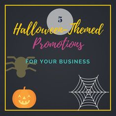 Halloween is coming and it's a great time to have a themed-promotion for your business. Here are 5 ideas to spruce up your Halloween-themed promotions.