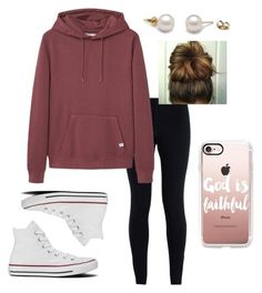 """""""Soooo Tired!"""" by jweber-14 ❤ liked on Polyvore featuring NIKE, MANGO MAN, Converse and Casetify"""
