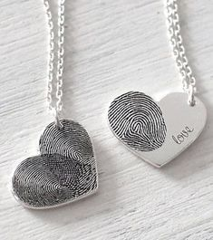 personalized fingerprint necklace for mom #giftsformom