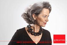 Kreatos kapsels voor vrouwen 2015 - Black White & Grey - haar halflang grijs