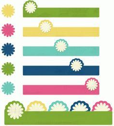 Silhouette Online Store - View Design #57643: long flower tab set