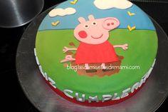 Tarta Peppa Pig fondant