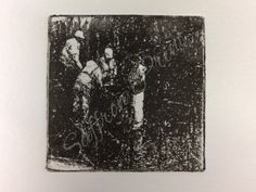 'Men at Work' photo intaglio  By Saffron Print