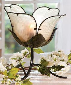 White Flower Lamp