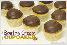 Boston Cream Cupcakes | Sugar Mur