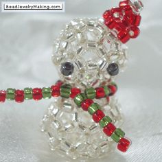 Beaded Jewelry Gallery | Beaded Snowman - Bead Jewelry Making - Christmas Special
