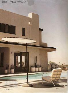 Palm Springs  Poolside  Modern outdoorfurnitre #PinterestandDesignWeek