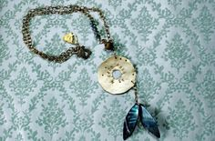 Free Spirit Shell and Chain Necklace by fritzdesigns on Etsy, $18.00