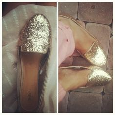 $20 gold glitter loafers from Target!