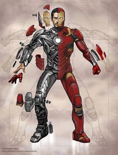 Ironman Deconstructed by Christopher-Stoll Marvel Comics, Marvel Heroes, Marvel Characters, Marvel Avengers, Iron Man Fan Art, Marvel Concept Art, Iron Man Cosplay, Iron Man Wallpaper, Futuristic Armour