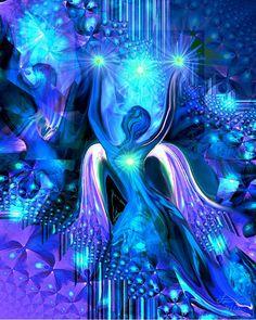 Chakra Angel Energy Art Spiritual Wall Decoration by primalpainter, $20.00