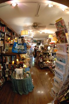 Cards, books, gifts - packed but not cluttered... sad that this bookstore is closed now, before I got a chance to visit it for even more inspiration!