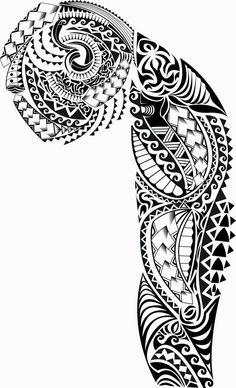 maori+tribal-sleeve-tattoo-designs-free-10.jpg (608×1000)