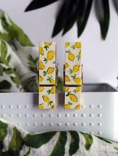 Le Citron - Pram pegs - 2 pack Beautiful Hands, Art Pieces, Packing, Hand Painted, Design, Lemon, Bag Packaging, Artworks