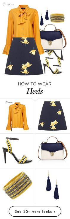 """""""Yellow White Blue"""" by deborah-calton on Polyvore featuring Aspinal of London, Marni, ALDO and Kenneth Jay Lane"""