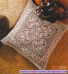 Clasico y bello almohadón | Mi Rincon de Crochet