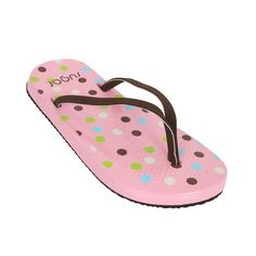 Sugar Ladies Sugar Pokadots Flip-Flop Multi New flip flops from Sugar with really comfy cushioned footbeds and grip around the toe area. Cool polka dot print with canvas straps and rubber sole. Comes with a first aid repair kit to mend cuts and http://www.comparestoreprices.co.uk/womens-shoes/sugar-ladies-sugar-pokadots-flip-flop-multi.asp