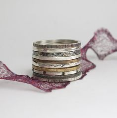 Sterling Stacking Silver Rings by kalypsosilver