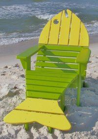 This is my fish chair.  I've been making these since 2001. If only I had a beach or lake house to go with it!!!