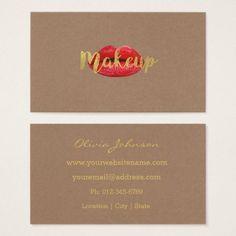 Fashion Lips Makeup Artist Business Cards