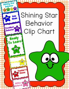 Behavior Clip Chart - Behavior Management - Shining Star, $