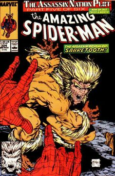 THE AMAZING SPIDER-MAN # 324 (Vol I)  1989. MARVEL COMICS. WRITER: David Michelinie. ARTIST: Todd McFarlane. COVER PRICE: $1.00. CHARACTERS: Sabretooth, Spider-Man. NOW PRICE: $16.00. CONDITION Near Mint.