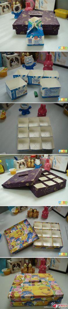 Aproveitando as caixinhas de leite