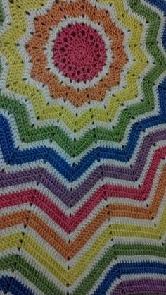 Ravelry: Rainbow Ripple Baby Blanket pattern by Celeste Young