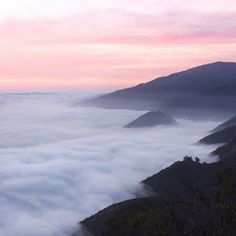 Just above the clouds Prewitt Ridge Big Sur. by christianannschaffer