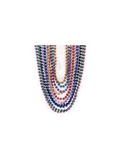 Metallic Beaded Necklaces (48 pc) by Fun Express