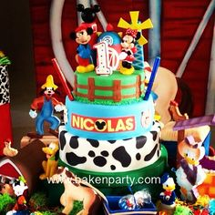 #mickey #mickeymouse #cake #fondant #farm #disney #animalp… | Flickr
